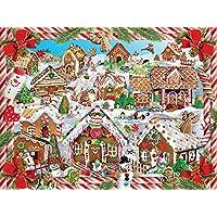 White Mountain Puzzles–Puzzle 1000pièces 61cm X 76,2cm, maisons en pain d'épices