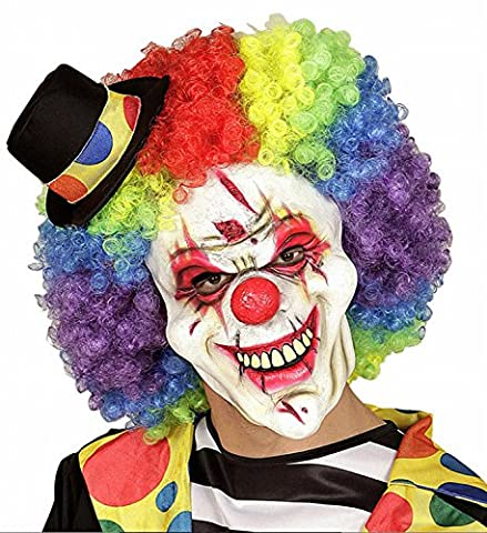 Widmann 00833 - Horror Killer Clown - Halbmaske mit Gummiband