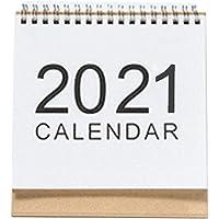 Beesuya Calendario da Tavolo 2021, Calendario a Fogli mobili da scrivania in Stile Semplice, Pianificazione del…