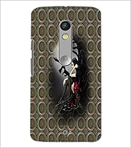 Printdhaba Alone Girl D-3007 Back Case Cover For Motorola Moto X Play
