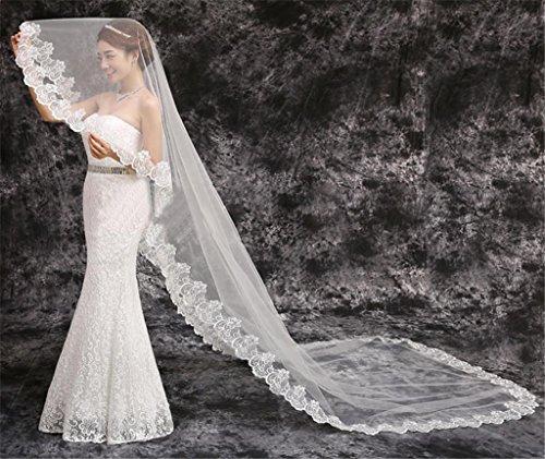 Vestito da cerimonia nuziale merletto di alta qualità di stile europeo per estendere la coda lunga del velare del vestito da cerimonia nuziale del vestito da cerimonia nuziale