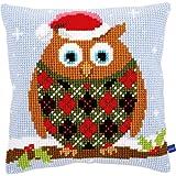 Vervaco de 0154717 Cojín de Punto de Cruz Búhos de Navidad
