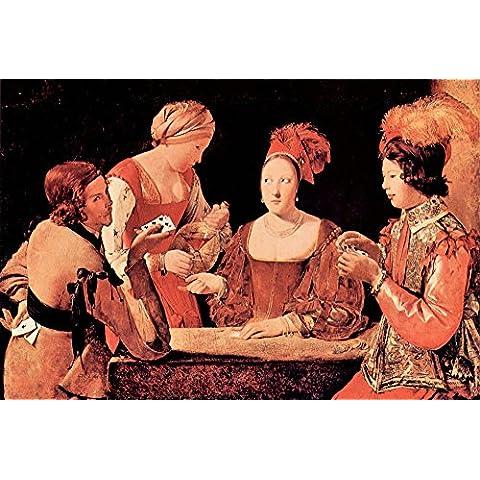 La presa è Museum, il giocatore con croce, aces by La Tour-Stampa su tela bambino,