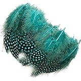 100 x Plumas de Gallina para Decoración de Ropa Artesanías Auzl ( 4,5-10cm)