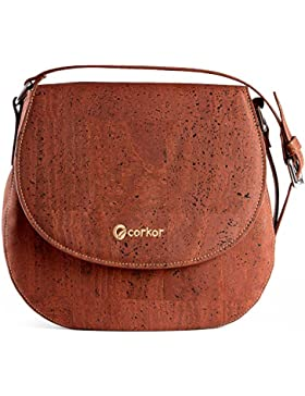 Saddle Bag for Women Leather Free Handbag Cross-Body Woman Vegan Cork