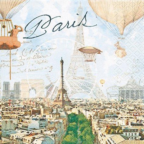 20 Servietten Paris / Eiffelturm / Städte / Frankreich 33x33cm