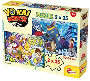 Lisciani Giochi 60696 - Puzzle Yokai Watch Protect The Seals, 2 x 35 Unidades