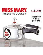 Hawkins Miss Mary Aluminum Pressure Cooker, 1.5 litres, Silver