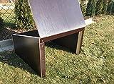 Mähroboter Garage Dach Carport Überdachung für Rasenroboter aus Siebdruckplatten 99 cm x 99 cm x 45 cm - wird fertig montiert geliefert - witterungsfest