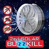 Pinjeer 2 in 1 Solar Buzz Uccidi la luce ultravioletta della mosca della zanzara dell'insetto della mosca della cucina domestica La più nuova illuminazione sbalorditiva Buzz Killer unico