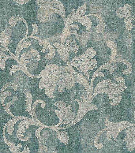 Rasch Vlies Tapete - Größe: 0,53 x 10,05 m - Farbe: grün, oliv, mint - Stil: Muster & Motive...