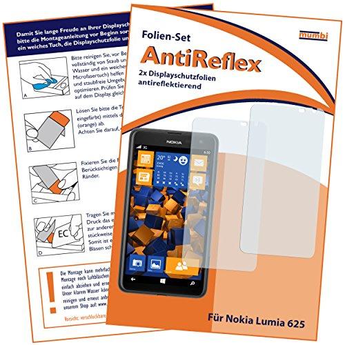 mumbi Schutzfolie kompatibel mit Nokia Lumia 625 Folie matt, Bildschirmschutzfolie (2x)