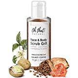 Oh That! Natural Face and Body Scrub Grit, exfoliates dirt, dead skin from elbows, face, knees, arms, etc., tan removal scrub