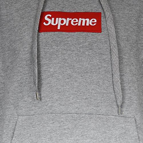 Supreme Italia Herren Kapuzenpullover Hoodie Hooded Logo Jacke Stickerei Skate Streetwear Stylisch Dope Fashion schwarz rot grau weiß Langarm Kapuze 100 % kardierte Baumwolle Grau
