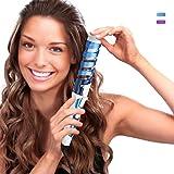 HCLESTORE Fer à Boucler Professionnel Salon de coiffure Portable Fer à Friser Céramique Curl spirale Curling Waver Maker (bleu)