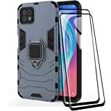 TANYO Telefoonhoes + Screen Protector [2 Pack] voor OPPO A73 5G, TPU/PC Heavy Duty Shockproof Armor beschermhoes [360° beugel