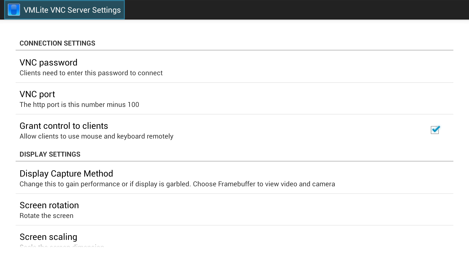 VMLite VNC Server: Amazon co uk: Appstore for Android