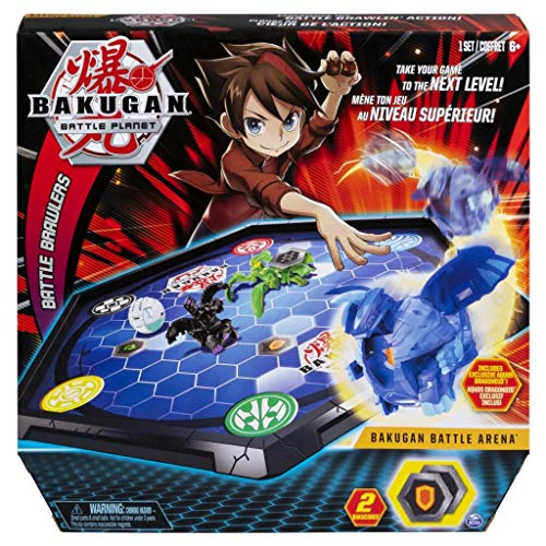 Bakugan 6045142 - Battle Arena, umrandetes Spielfeld mit exklusivem Aquos Dragonoid Bakugan, Battle-Matrix aus der TV-Serie, Hexagon-Spielbrett für Kinder