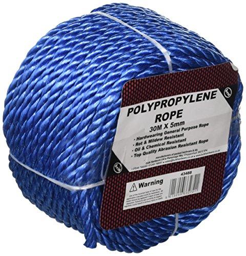 Bulk Hardware bh05765gewickelten Polypropylen Seil PP Seil, 30m x 5mm (97,5Fuß x 1/10,2cm)-Blau
