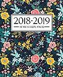 Semesterplaner 2018-2019: Semesterplaner 2018-2019: Oktober 2018 – September 2019: 19 x 23 cm : Blumenmuster 4183
