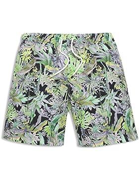 HAIYOUVK Xia Nan Beach Shorts Male Quick-Drying Loose Large Size Seaside Vacation Swim Shorts Ink Spring Shorts...