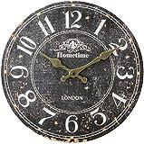 HomeTime Unisex Whitton Wall Clock - Brown