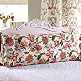 Segeltuch Dreieck Bett Großes Kissen, Sofa Kissen, Tatami Bett Soft Bag Bett Großes Kissen Bett Kissen-Weiß 180x25x50cm(71x10x20inch)