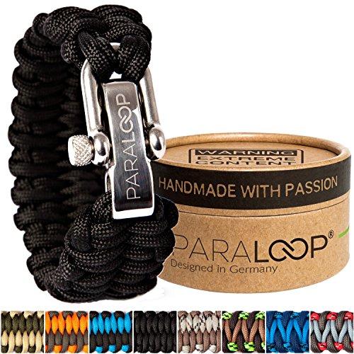 PARALOOP ORIGINAL ▪ Paracord Armband für Herren/Männer ▪ inkl. Geschenkbox ▪ Verschluss aus Edelstahl ▪ in vielen Farben ▪ Bracelet