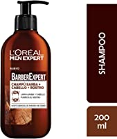 L'Oréal Paris Men Expert Barber Club Champú 3 en 1, para Barba, Cabello y Rostro, 200 ml, Pack de 2