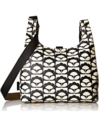 Orla Kiely Womens Midi Sling Bag Shoulder Bag Black (CHARCOAL)