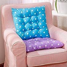 Almohada Cojín de Silla de Asiento Amortiguador de Sillas Comedor Decoración Interior Al Aire Libre Jardín Patio Diseño de Puntos - Azul