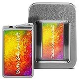 Feuerzeug mit Namen Bester Sohn der Welt - personalisiertes Gasfeuerzeug mit Design Color Paint - inkl. Metall-Geschenk-Box