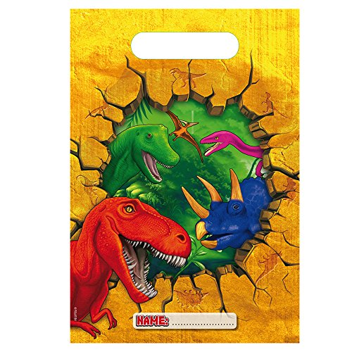 Folat - Lote de 6bolsas de fiesta con diseño de dinosaurios