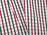 Gewebter Stoff aus Baumwollmischgewebe, kariert, Weiß,