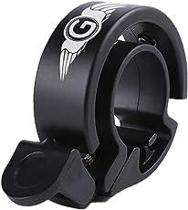 FAHRRADKLINGEL Laut - Fahrrad Klingel O Design - Fahrradglocke schwarz - Glocke Hupe für Fahrrad
