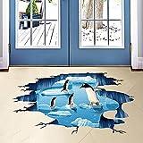 Wddwarmhome 3D dreidimensionale Wandaufkleber Wohnzimmer-Hintergrund-Aufkleber-Badezimmer-Fußboden-Aufkleber Wasserdichte Größe: 114 * 56cm Wandsticker