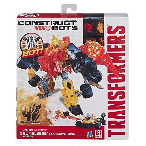 Extinction Construct-Bots Dinobot Warriors Bumblebee and Nosedive Dino Buildable Action Figures by Hasbro ()