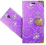 """Alcatel Pixi 4 (6"""") 4G Coque, FoneExpert® Etui Housse Coque Bling Diamant en Cuir Portefeuille Wallet Case Cover Pour Alcatel Pixi 4 (6"""") 4G"""