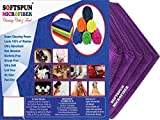 #5: SOFTSPUN Microfiber Car Cleaning Cloth Set of 5 For Detailing & Polishing 340 GSM, 40 cm x 40 cm, Purple