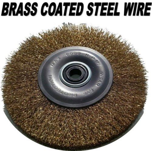 Roue de fil brosse pour touret à meuler 15,2cm 150mm 6000tr/min