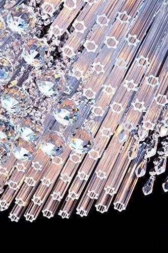 SaintMossi® Modern Unterputzmontage Wohnzimmer Kristall Deckenleuchte Kronleuchter 12 X G9 Lampenfassung Länge 40cm X Höhe 25cm X Breite 40cm - 6