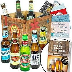Biere der Welt Geschenkbox + Geschenkkarten uvm. / Geschenke Geburtstag Mann