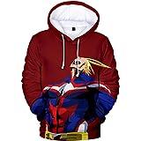Silver Basic My Hero Academia Bakugou Uraraka Toga Costume Felpa con Cappuccio Sweatshirt Kids Maglione