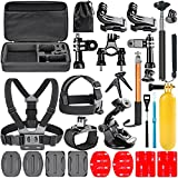 Neewer 23-In-1 Action Camera Accessory Kit for GoPro Hero 4/5 Session Hero 1 2 3 3+ 4 5 SJ4000 5000 6000 DBPOWER AKASO VicTsing APEMAN WiMiUS Rollei QUMOX Lightdow Campark Sony Sports DV and More