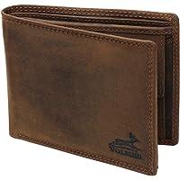 Fa.Volmer ® Portafoglio uomo robusto in vera pelle con protezione RFID nei colori nero e marrone #VO19-Iron (marrone)
