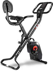 KUOKEL Indoor Exercise Bike Folding, Fitness Bike Home Trainer with Digital Monitor, Sporting Equipment