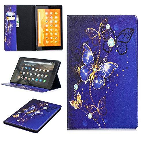 UBMSA Amazon Fire HD 10 Tablet Schutzhülle Hülle mit Auto Einschlafen/Aufwachen für Das neue Amazon Fire HD 10(10-Zoll-Tablet, 7. 5. Generation - 2017/2015)