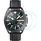 CAVN Protector de pantalla compatible con Samsung Galaxy Watch 3 45mm, 3 unidades, dureza 9H, transparente, antiarañazos, cri