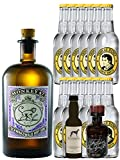 Gin-Set Monkey 47 Schwarzwald Dry Gin 0,5 Liter + Windspiel Premium Dry Gin Deutschland 0,04 Liter + Filliers Premium Dry Gin Belgien 0,05 Liter MINIATUR, 12 x Thomas Henry Tonic Water 0,2 Liter