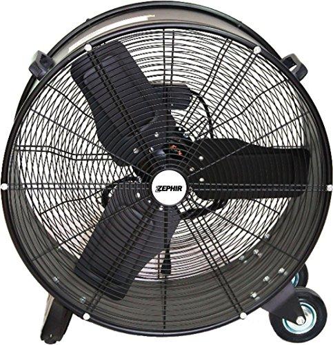 Zephir zdc60cm Ventilateur Industriel à haute vitesse, Noir